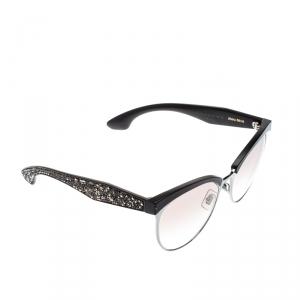 Miu Miu Brown/Brown Gradient SMU54Q Paved Cat Eye Sunglasses