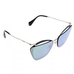Miu Miu Black/Gold Mirror SMU 54T Frame Sunglasses