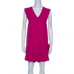 Miu Miu Pink Ruffled Bow Detail Sleeveless Dress S - used