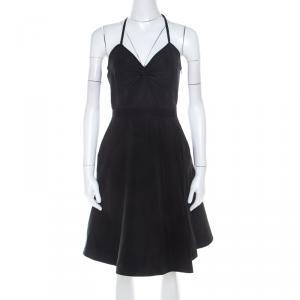 Miu Miu Black Textured Classic Cinched Waist Dress S - used