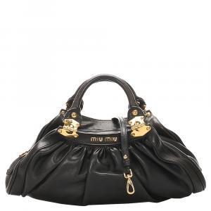 Miu Miu Black Leather Satchel