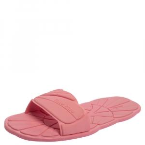 Miu Miu Pink Rubber Slide Sandals Size 41