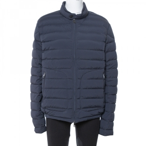 Moncler Navy Blue Down Quilted Zip Up Acorus Jacket xl - used