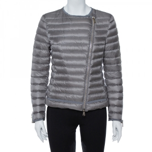 Moncler Grey Down Quilted Amey Jacket M - used