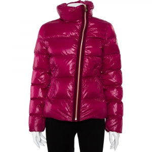 Moncler Purple Synthetic Puffer Down Ilay Jacket S - used