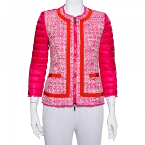 Moncler Pink Tweed & Synthetic Prune Jacket S - used