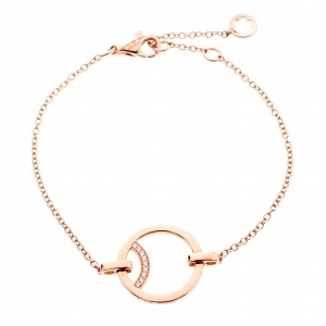 Montblanc Diamond 18k Rose Gold Chain Bracelet