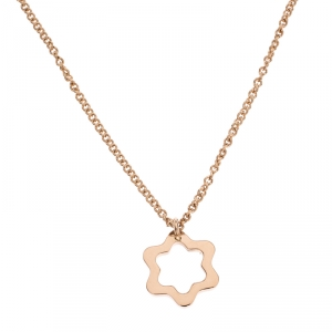 Montblanc Star Motif 18k Rose Gold Pendant Necklace