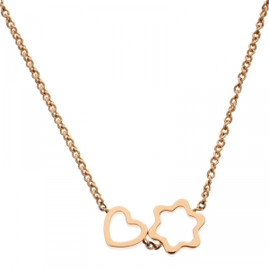 Montblanc Star Heart Charm 18k Rose Gold Necklace