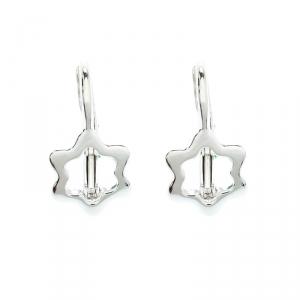 Montblanc Star Silver Huggie Earrings