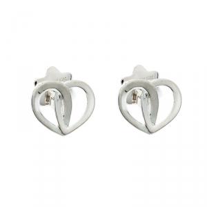 Montblanc Heart Silver Stud Earrings