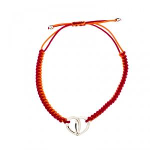 Montblanc Coeur de Pétales Entrelacés Silver Bi-color Cord Bracelet