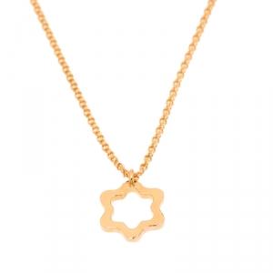Montblanc Star 18k Rose Gold Pendant Necklace
