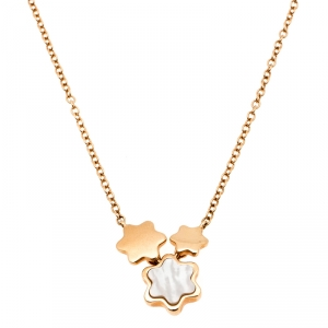 Montblanc Mother of Pearl 18k Rose Gold Pendant Necklace