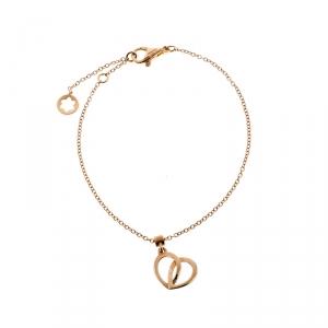 Montblanc Coeur de Pétales Entrelacés 18k Rose Gold Charm Bracelet