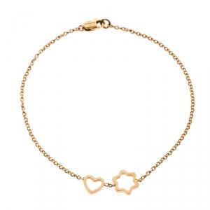 Montblanc Star Heart Charm 18k Rose Gold Bracelet