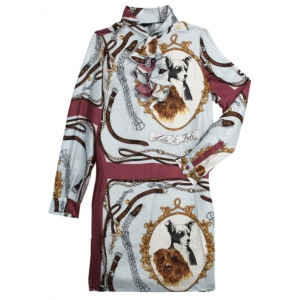 Moschino Printed Long Shirt L