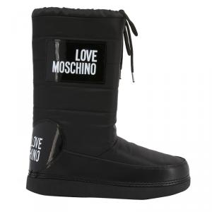 Love Moschino Black Fabric Snow Boots Size 41
