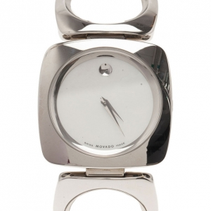 Movado White Stainless Steel Bracelet Women's Wristwatch 35MM