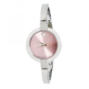 Movado Pink Stainless Steel Bela 0606596 Women's Wristwatch 25 mm