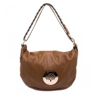 Mulberry Brown Grained Leather Daria Hobo