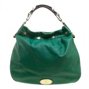 Mulberry Green Pebbled Leather Mitzy Hobo
