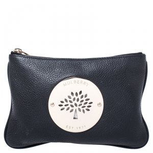 Mulberry Black Leather Daria Pouch