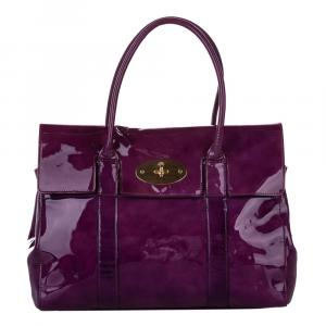 Mulberry Purple Patent Leather Bayswater Bag