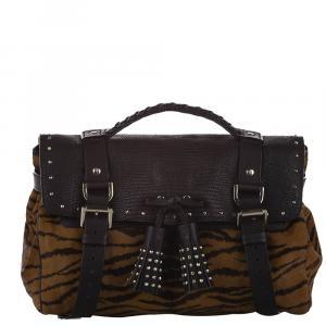 Mulberry Brown Ponyhair/Leather Alexa Satchel Bag