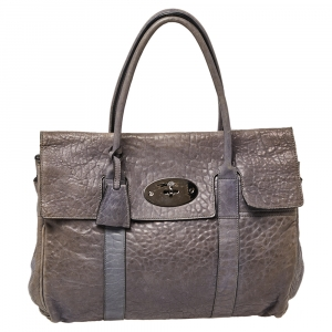 Mulberry Grey Leather Bayswater Satchel