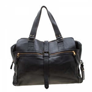حقيبة مالبري ترافيل جلد أسود