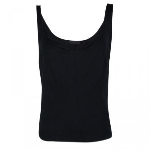 Narciso Rodriguez Navy Blue Contrast Trim Detail Sleeveless Top M