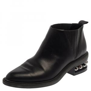 Nicholas Kirkwood Black leather Suzi Studded Ankle Boots Size 39 - used