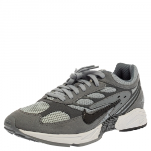 Nike Air Grey Leather And Mesh Ghost Racer Sneakers Size 41 -