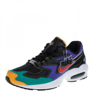 Nike Air Max2 Multicolor Leather And Mesh Light PRM Sneakers Size 42
