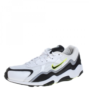 Nike Air Black/White Leather And Mesh Zoom Alpha Sneakers Size 43