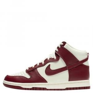Nike Dunk High Sail Team Red Sneakers US Size7W EU Size 38
