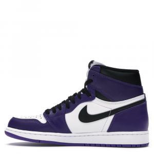 Nike Jordan 1 Retro High Court Purple White Sneakers Size EU 37.5 (US 5Y)