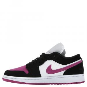Nike Jordan 1 Low Black Cactus Flower Sneakers Size EU 38.5 (US 7.5W)