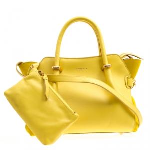 Nina Ricci Yellow Leather Small Marche Tote