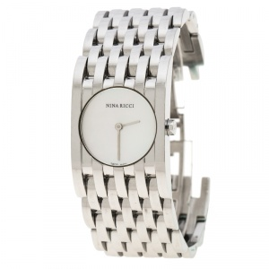 Nina Ricci White Mother of Pearl Stainless Steel N000113 Women's Wristwatch 25 mm