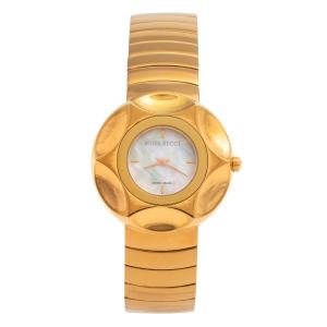 ساعة يد نسائية نينا ريتشي إن024.53 ستانلس ستيل مطلي  پي ڨي دي و صدف بيضاء 37 مم
