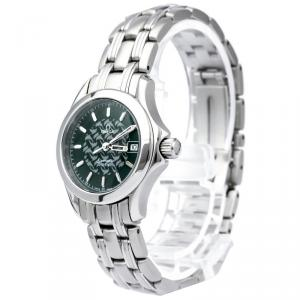 Omega Green Stainless Steel Seamaster Women's Wristwatch 26MM