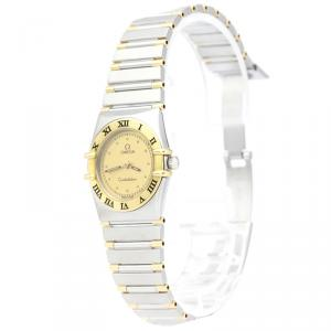 Omega Gold 18K Yellow Gold and Stainless Steel Constellation Women's Wristwatch 22MM