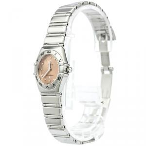 Omega Orange Stainless Steel Constellation Women's Wristwatch 22MM