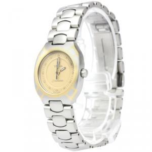 Omega Champagne Stainless Steel Seamaster Polaris Women's Wristwatch 21MM