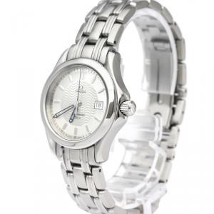 Omega Silver Stainless Steel Seamaster Women's Wristwatch 26MM