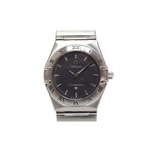Omega Grey Stainless Steel Constellation Women's Wristwatch 24MM