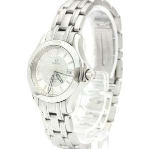 Omega Silver Stainless Steel Seamaster 120M 2581.31 Women's Wristwatch 26 MM