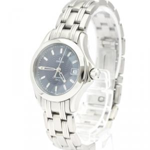 Omega Blue Stainless Steel Seamaster 120M 2581.81 Women's Wristwatch 26 MM